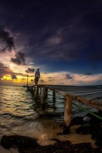 Sunrise - Jetty - Xcala, Yucatan
